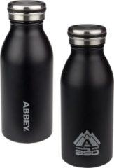 Abbey Drinkfles Dubbelwandig Victoria - 0.35 Liter - Zwart/Zilver - 0,35 L