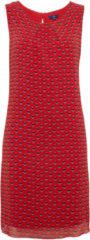TOM TAILOR TOM TAILOR Damen Sommer-Kleid mit Schleife, Damen, baked apple red 1, Größe: 40, rot, unifarben, Gr.40