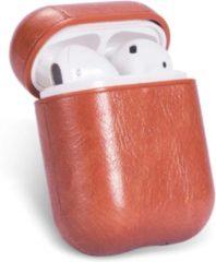 Drphone PL1 Case – Airpods 1 / Airpods 2 – Classic – Pu Leer – Hoogwaardige PU Lederen – Bruin