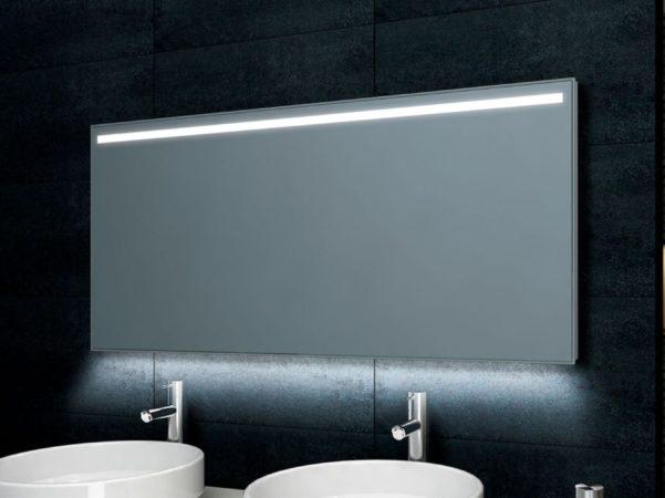 Afbeelding van Douche Concurrent Badkamerspiegel Wiesbaden Ambi One 100x60cm Geintegreerde LED Verlichting Verwarming Anti Condens Touch Lichtschakelaar Dimbaar