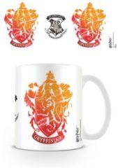 Witte HARRY POTTER - Mug - 300 ml - Gryffindor Stencil
