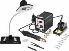 Stamos Welding Soldeerstation - 60 W - LED - Display - Accessoires