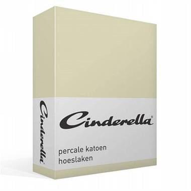 Afbeelding van Cinderella Basic percaline katoen hoeslaken - 100% percaline katoen - 2-persoons (140x200 cm) - Zand
