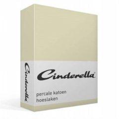 Cinderella Basic percaline katoen hoeslaken - 100% percaline katoen - 2-persoons (140x200 cm) - Zand