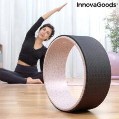 Beige Innovagoods Premium Yoga Wiel Rodha | Meditatie | Ontspanning Rug - Borst - Schouders - Buik - Heup |