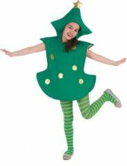 Groene B&W Filter WELLY INTERNATIONAL - Kerstboom kostuum voor kinderen - 104/116 (4-6 jaar) - Kinderkostuums