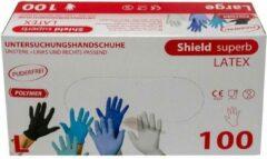 Naturelkleurige Topglove Latex handschoenen wegwerp, Latex wegwerphandschoenen - maat XL   Poedervrij   100 stuks