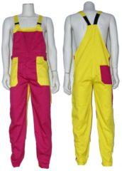 GAEVE Design Yoworkwear Tuinbroek polyester/katoen fuchsia-geel maat 116