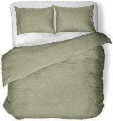 Groene Yellow Eloise - Dekbedovertrek - Tweepersoons - 200x200/220 cm + 2 kussenslopen 60x70 cm - Frosty Green