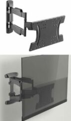 Zwarte Mountastic Universele OLED TV Muurbeugel - 32-65 Inch - Draaibaar en Kantelbaar - 30 KG
