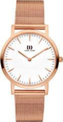Roze Danish Design watches edelstalen dameshorloge London White Rosegold Medium Mesh IV67Q1235