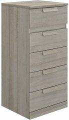 Gamillo Furniture Ladekast Cyrus 102 cm hoog in grijs eiken