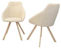 Stuhl (2Stück) Charlotte Möbel-Direkt-Online beige