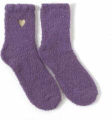 Merkloos / Sans marque Sokken - Paars - Hartje - Huissokken - Dikke sokken - Moederdag - Liefde