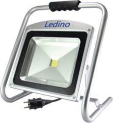 Ledino 50 W LED-Baustrahler mit Hochleistungs LEDs, Silber, Kaltweiß 6000 K