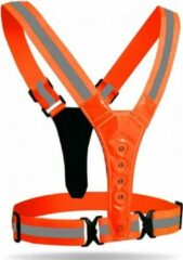 TrueLogic Alpha hardloop verlichting - hardloop vest met verlichting - verlichting hardlopen - Reflectievest- Unisex - Veilig- Reflecterend - Waterafstotend - Neon oranje