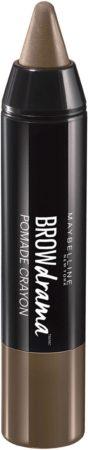 Afbeelding van Bruine Maybelline Brow Drama Pomade - Medium Brown - Wenkbrauwpotlood