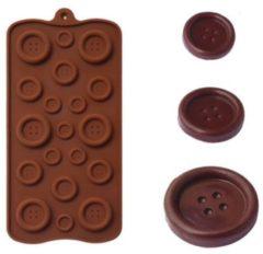 Bruine Leukste Winkeltje Chocoladevorm mal knopen siliconen vorm voor ijsblokjes chocolade fondant - LeuksteWinkeltje