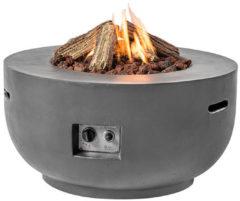 Zilveren Merkloos / Sans marque Happy Cocooning Vuurtafel Bowl Rond - �91 cm - Antraciet + Gasdrukregelaar