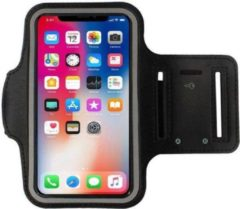 Zwarte ZAYO Sportarmband iPhone X Hardloop armband iPhone 10