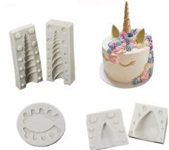 Witte FIFO Eenhoorn Bakvormen, Unicorn, 3 Stuks, Cake, Taart, Magisch, Sprookje