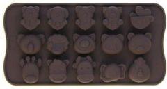 Bruine Leukste Winkeltje Chocoladevorm - Dieren - Siliconen