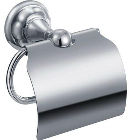 """Afbeelding van Zilveren Best-design """"liberty"""" toiletrolhouder met klep"""