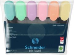 Schneider Textmarker Textmarker Job pastell Etui 6 Stück