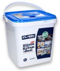 Clark Hygiëne bucket - 50% Alcohol doekjes 18x22,5cm 375 stuks in emmer - Desinfectiedoekjes