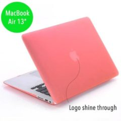 Lunso - hardcase hoes - MacBook Air 13 inch - mat lichtroze