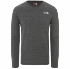 The North Face - L/S Easy Tee - Longsleeve maat XL, zwart/grijs