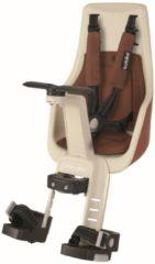 Bruine Bobike Exclusive Mini Plus Fietsstoeltje - Stuurbevestiging - Cinnamon Brown