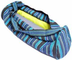Yogi & Yogini Yogamat tas katoen blauw gestreept - 67x24 - Katoen - Blauw