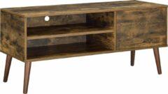 En.casa TV meubel Alvsbyn tv kast 110x40x50 cm houtkleurig donker