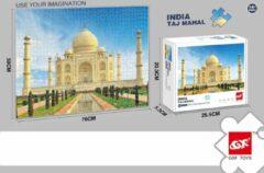 White Rhinoceros Jigsaw Legpuzzel 'Taj Mahal' Puzzel 1000 Stukjes Volwassenen Legpuzzels - Met Extra Voorbeeldposter - Museum Puzzel - Natuur - Dieren - Stad - Kunst - Hobby Speelgoed - Legpuzzels Volwassenen Kinderen - 50*70 cm