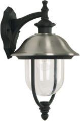 Roestvrijstalen Ks Buitenlamp Bologna wandlamp zwart/RVS