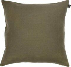 Kaki Himla Sunshine kussen met rits khaki - 50 x 50 cm