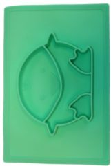 Turquoise Anti-slip silicone 3D kinder Pinguïn Groen Turqoise | Kinderplacemat | Vaatwasser bestendig | Anti Slip | Super leuk | By TOOBS