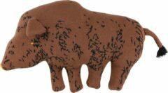 Trixie Knuffel Gebreid Truffle Pig 40 Cm Katoen Bruin
