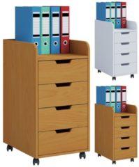 Rollcontainer Bürocontainer Schubladenschrank Büroschrank Schubladen Konal Maxi VCM Buche