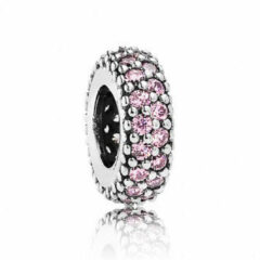 Roze Pandora Abstract spacer with pink cubic zirconia 791359PCZ