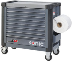 Grijze SONIC Equipment Sonic gereedschapswagen leeg S12 8 laden