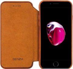 Bruine Senza Desire Skinny Leather Wallet Apple iPhone 7 Plus/8 Plus Burned Cognac