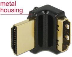 Zwarte Compacte HDMI adapter - 90° haaks naar boven - versie 2.0 (4K 60Hz HDR)