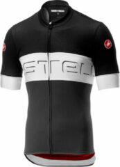 Castelli Castelli Prologo VI Jersey FZ Fietsshirt - Maat L - Mannen - zwart - wit