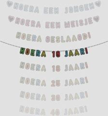 Merkloos / Sans marque Letterslinger Hoera 16 Jaar!Neon 5 meter