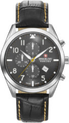 Zilveren Swiss Military Hanowa watches chronograaf herenhorloge Helvetus Chrono 06-4316.7.04.009