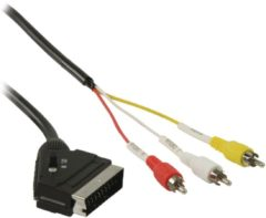 Valueline Schakelbare SCART - RCA kabel SCART mannelijk - 3x RCA mannelijk 2,00 m zwart