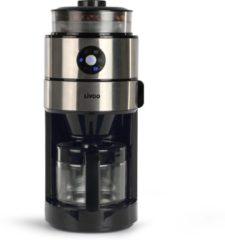 Roestvrijstalen Livoo - Koffiezetapparaat met geïntegreerde koffiemolen