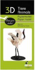 Fridolin 3D puzzel en bouwpakket zwart witte kraanvogel